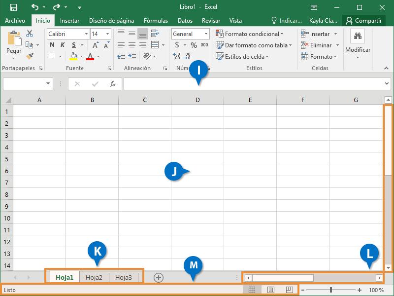 Entender la Pantalla de Excel