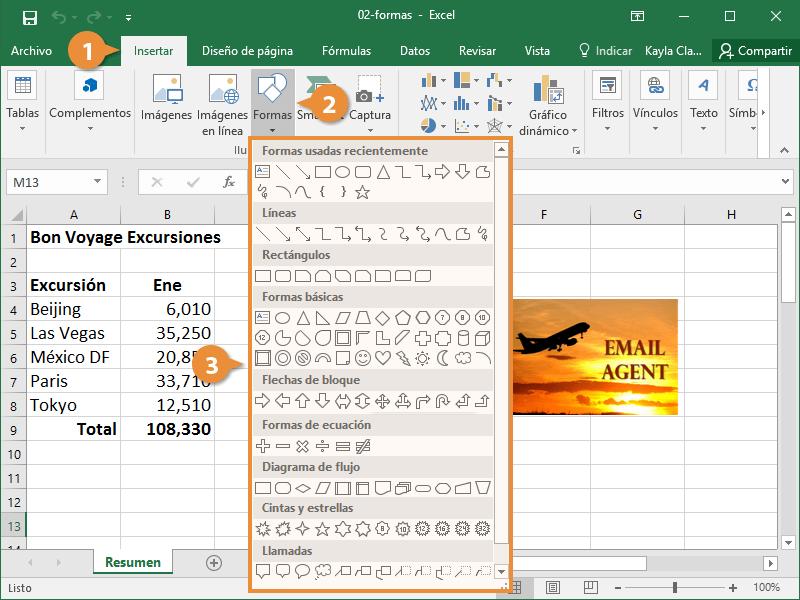 Cuadros de Texto y Formas