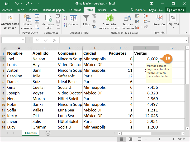 ´Validación de Datos