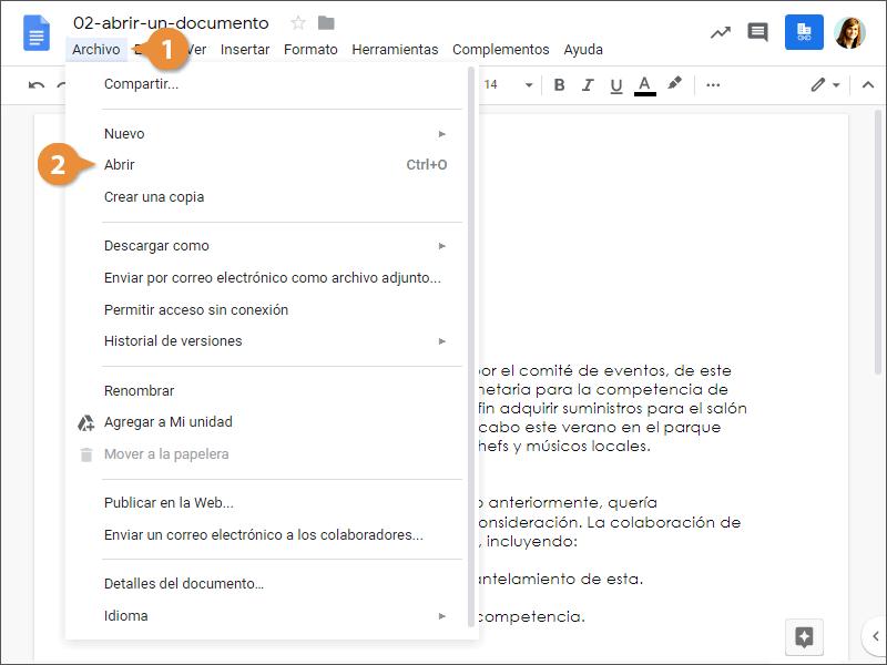 Abrir un Documento