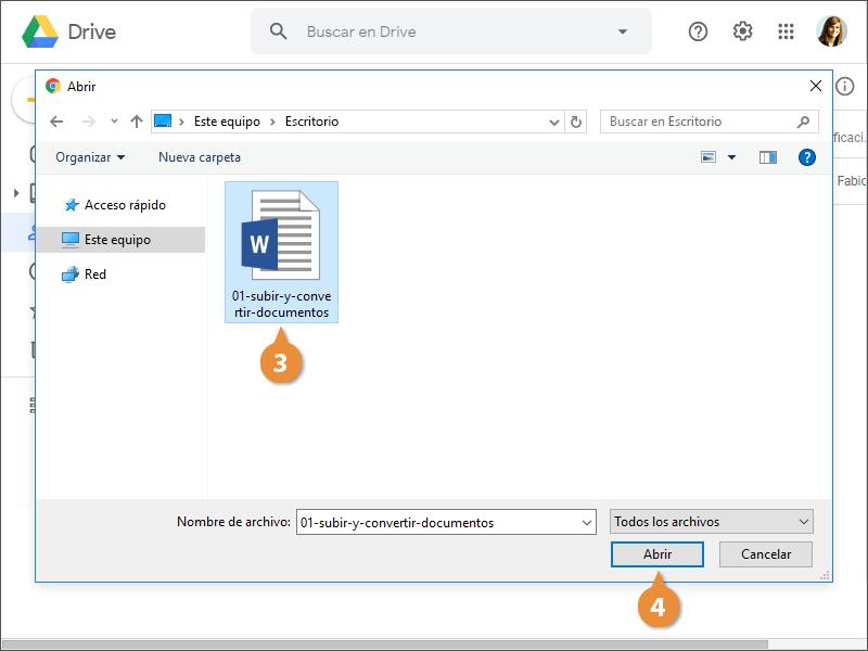 Subir y Convertir Documentos