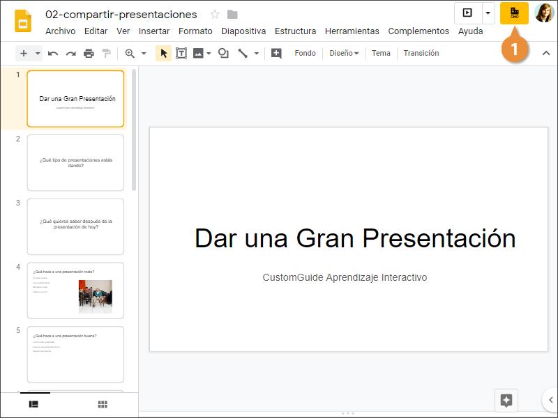 Compartir Presentaciones