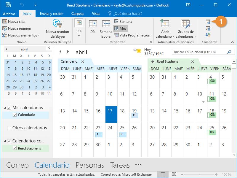 Compartir el Calendario