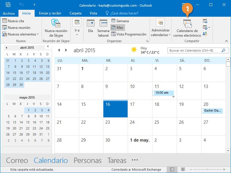 Enviar el Calendario