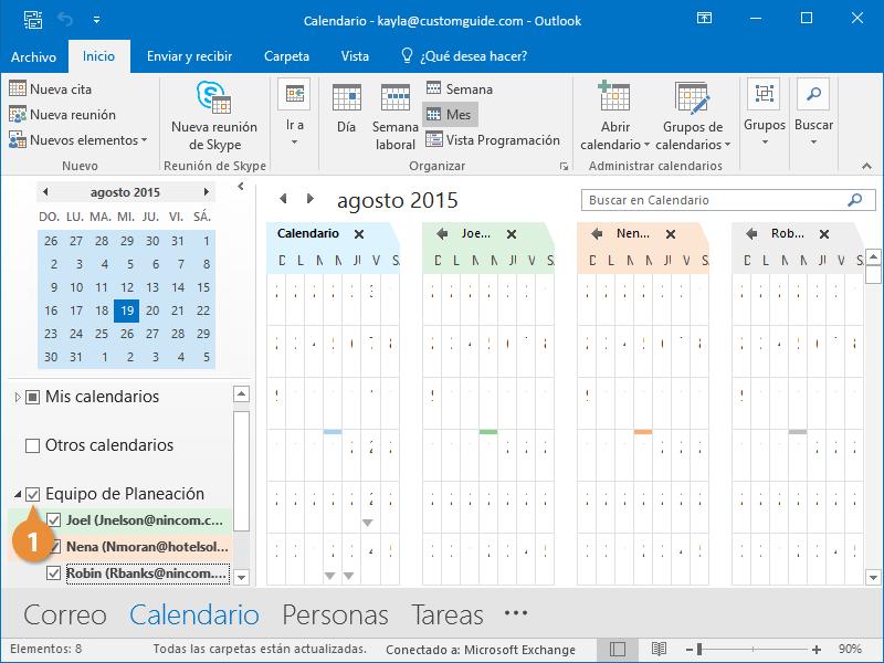 Grupos de Calendarios