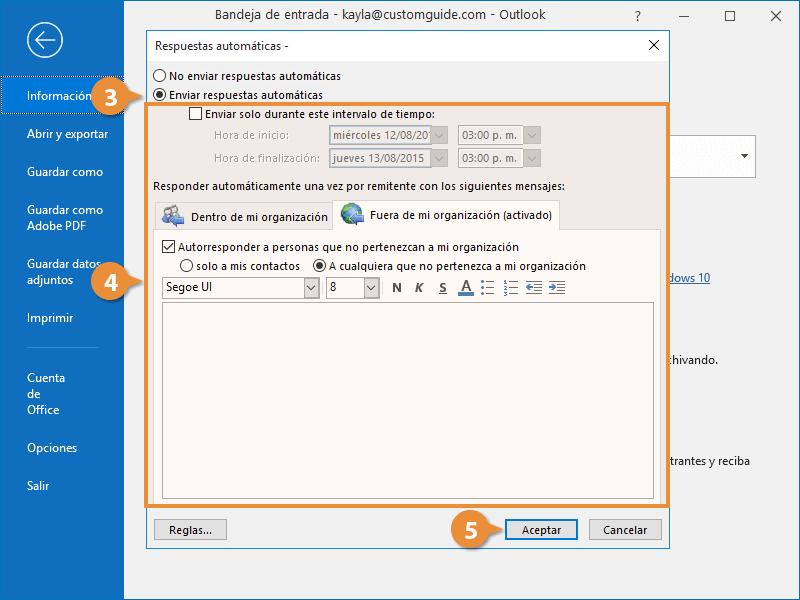 Enviar Respuestas Automáticas