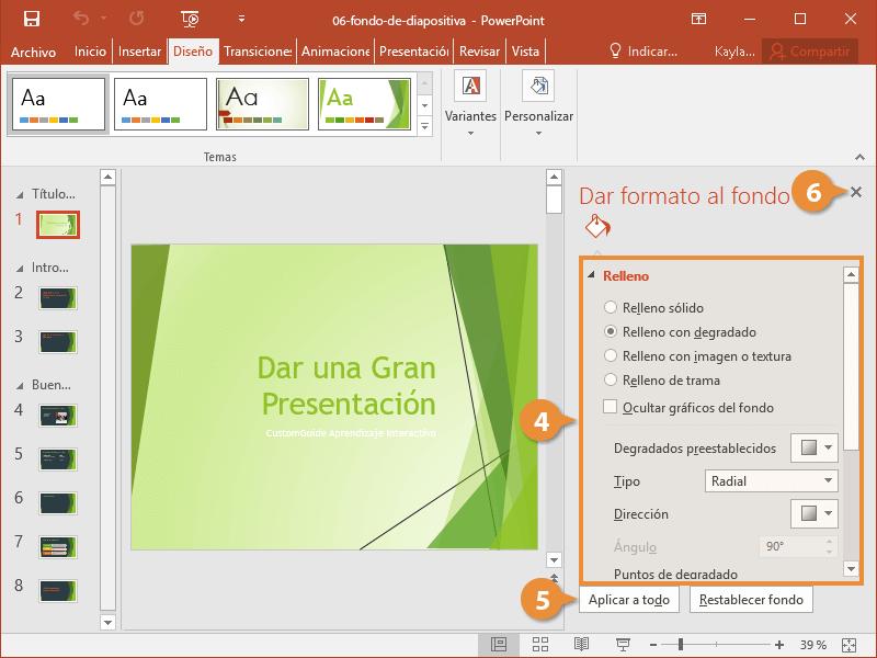 Fondo de Diapositiva
