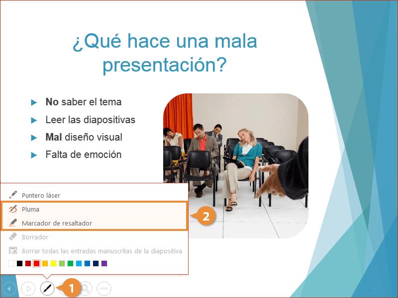 Herramientas de una Presentación