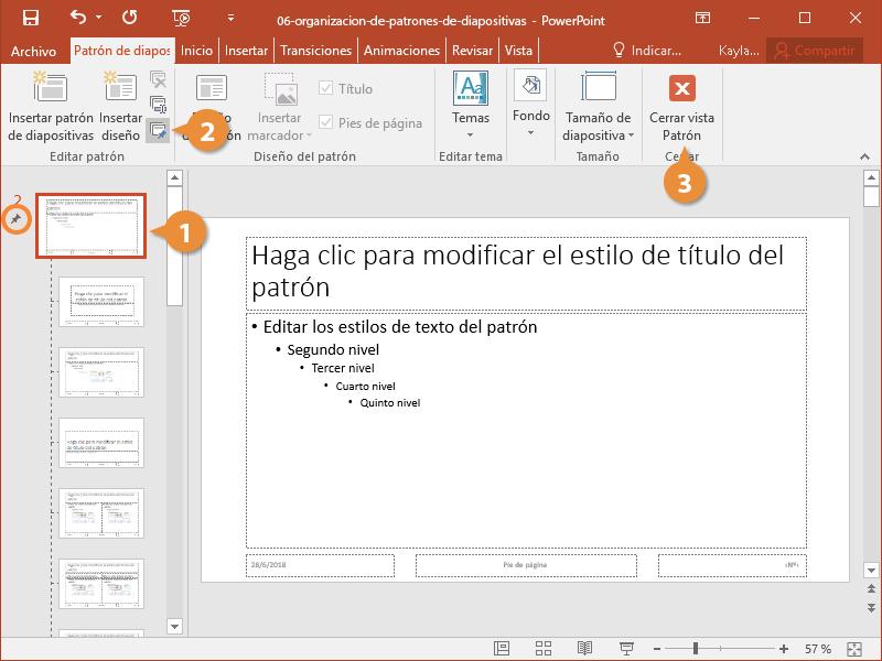 Organización de Patrones de Diapositivas