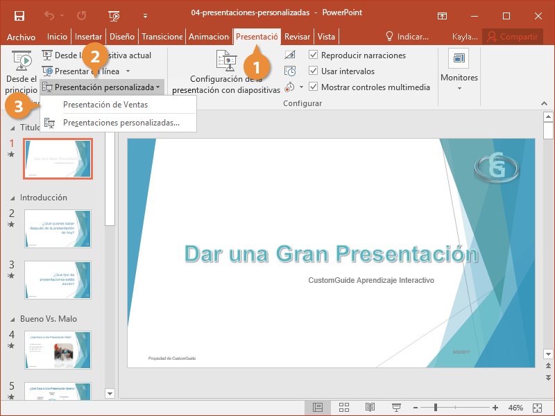 Presentaciones Personalizadas