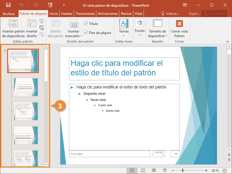 Vista Patrón de Diapositivas