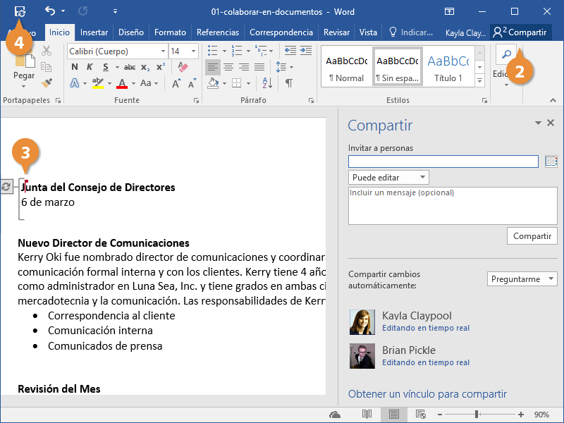 Colaborar en Documentos
