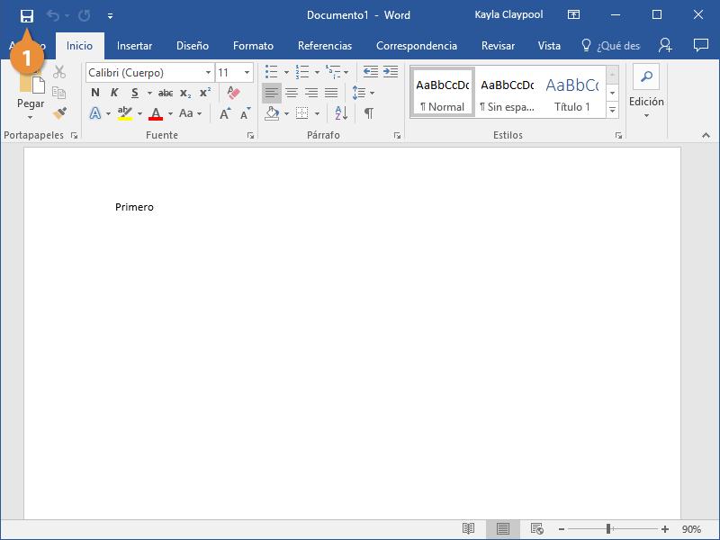 Guardar un archivo