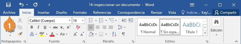 Inspeccionar un documento