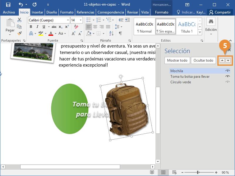 Objetos en Capa en un Documento de Word