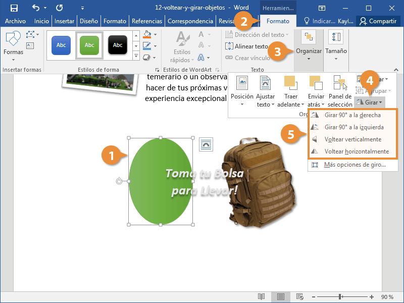 Voltear y Girar Objetos en un Documento de Word