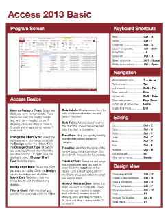Access 2013 Basic Quick Reference