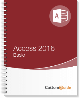 Access 2016 Basic Courseware