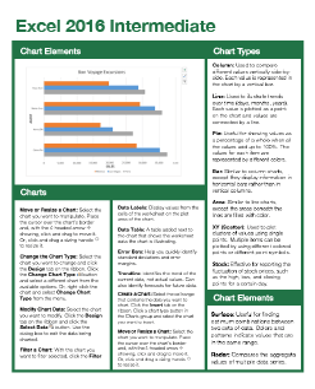 Excel 2016 Intermediate