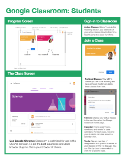Google Classroom: Students Quick Reference