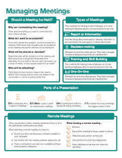 Managing Meetings Quick Reference