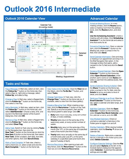 Outlook 2016 Intermediate