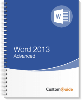 Word 2013 Advanced Courseware