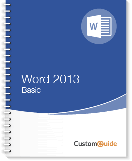 Word 2013 Basic Courseware