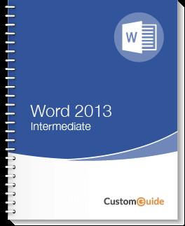 Word 2013 Intermediate
