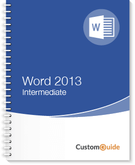 Word 2013 Intermediate Courseware