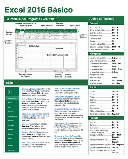 Guía Rápida de Excel 2016 Básico
