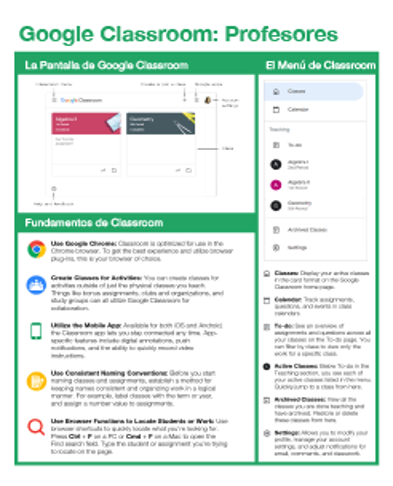 Guía Rápida de Google Classroom