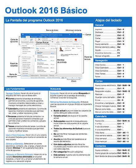 Guía Rápida de Outlook 2016 Básico