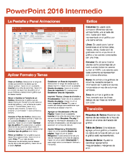 PowerPoint 2016 Intermedio
