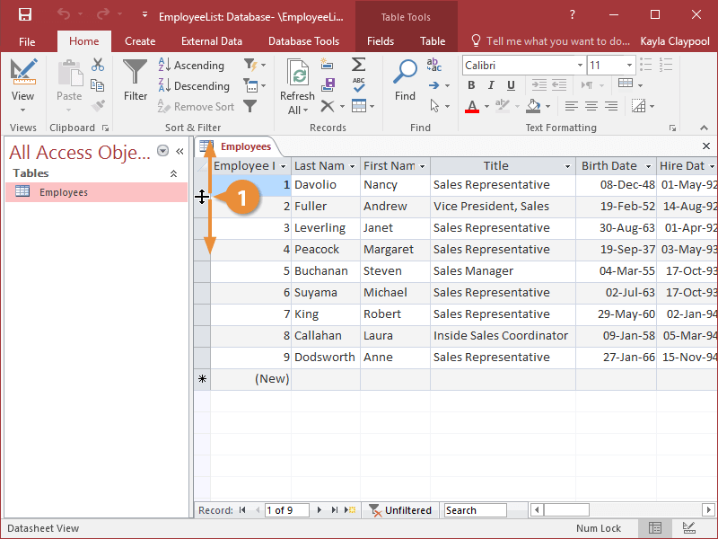 Adjust Rows and Columns