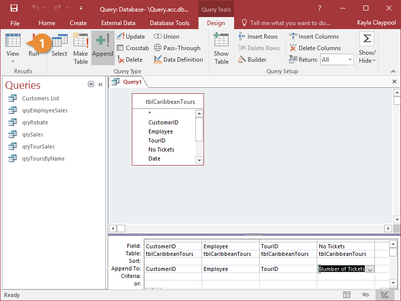 Preview and Run a Query
