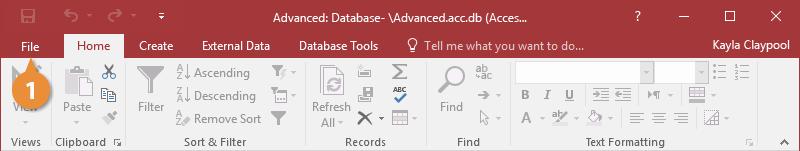 Back Up a Database