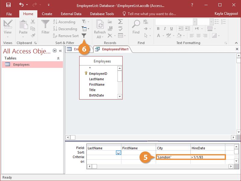Create an Advanced Filter