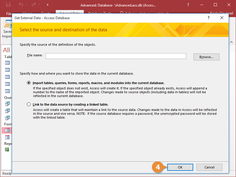 Import Access Objects