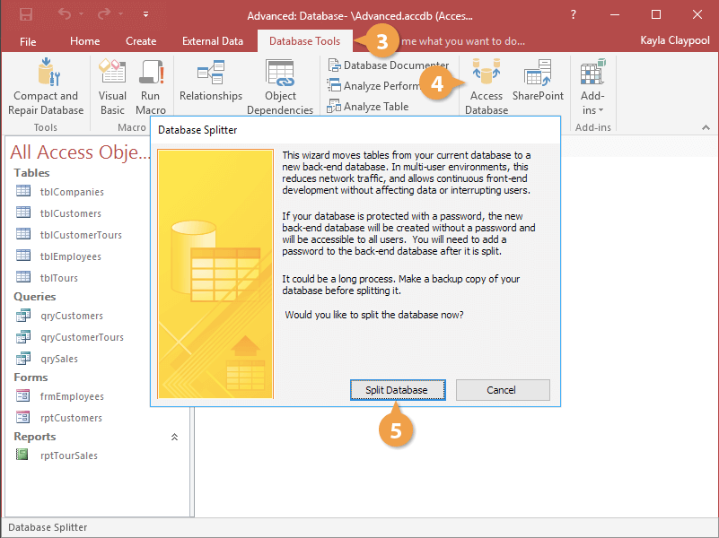 Split a Database