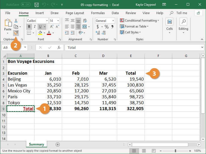 Copy Cell Formatting