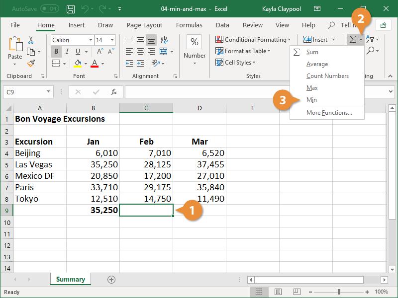 Create a MIN Formula