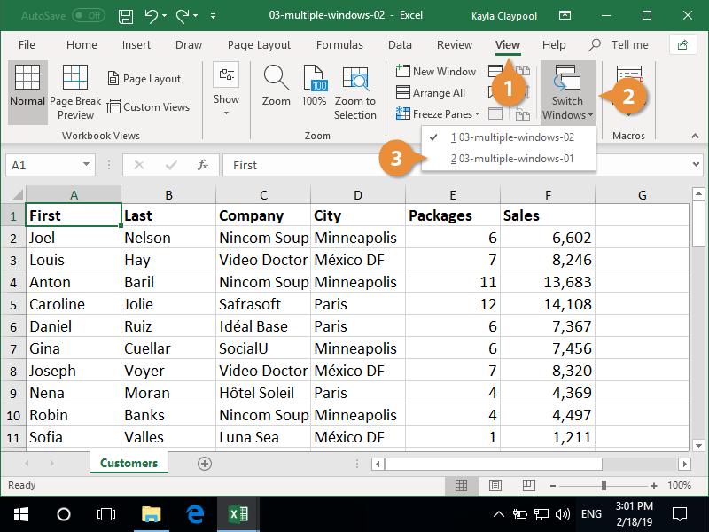 Switch Between Windows from the Taskbar