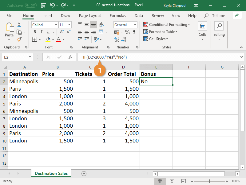 IInsert a Nested Function