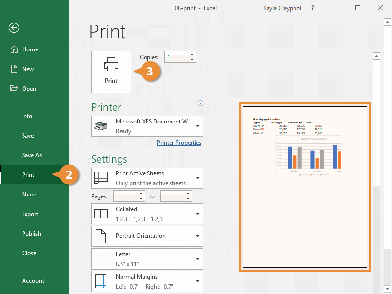 Preview and Print a Worksheet
