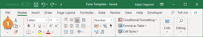 Open a Form Template