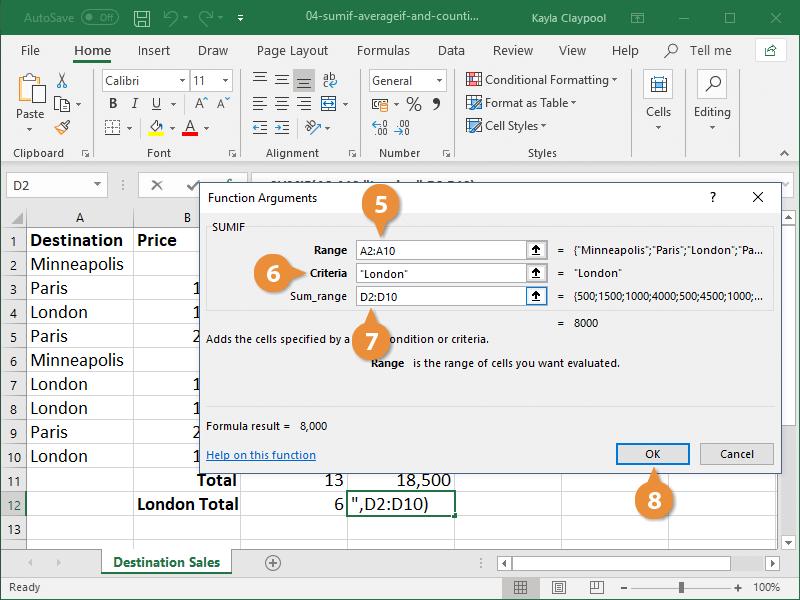 Create a SUMIF Formula 03