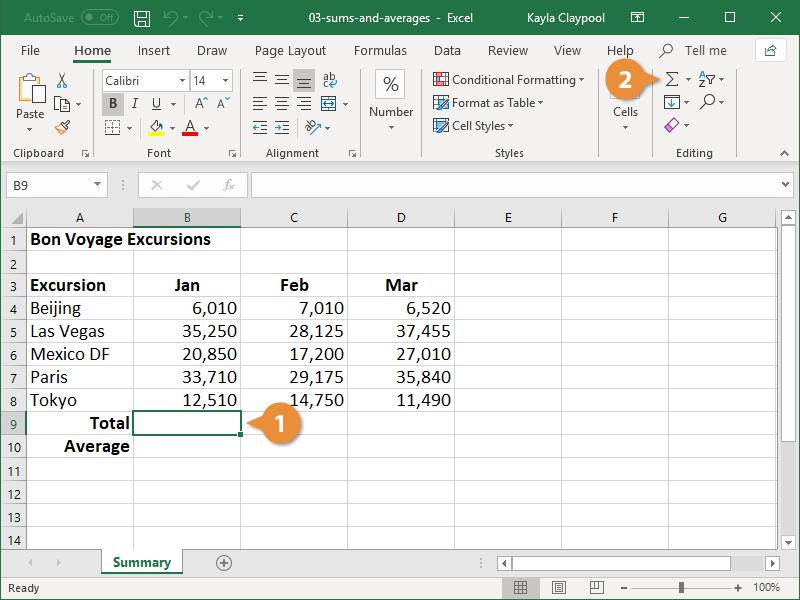 Create a Sum Formula