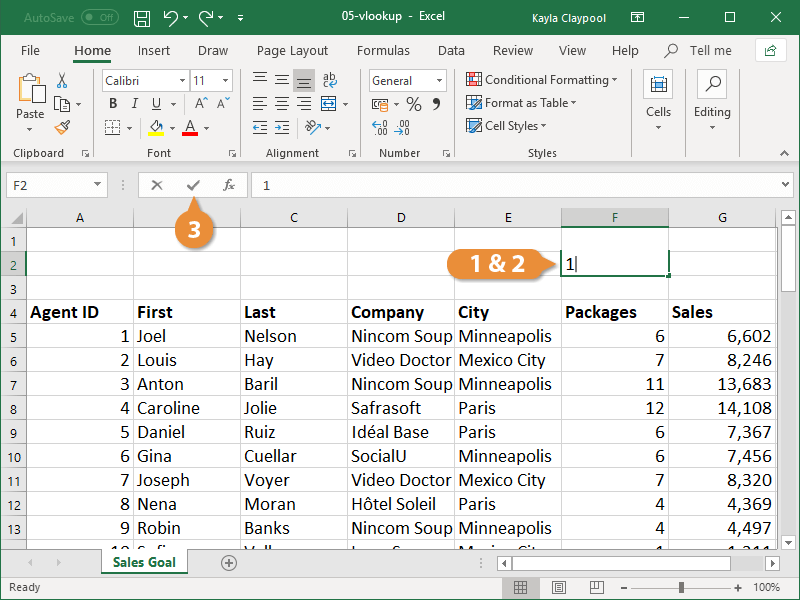 Insert a VLOOKUP Function 02