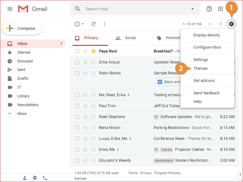 Change Your Inbox Theme
